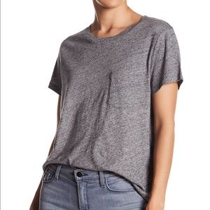 Madewell grey crew neck pocket shirt